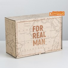 "Коробка ""For real man"" карта"